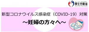 新型コロナウイルス感染症(COVID-19)対策リーフレット~妊婦の方々へ~